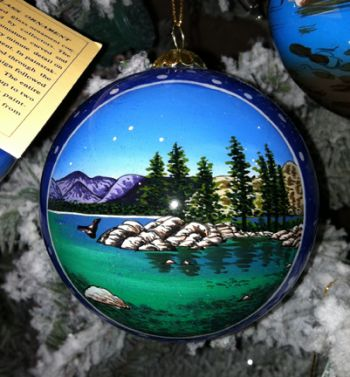 The Robin's Nest Lake Tahoe, Glass Tahoe Ornaments