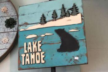 The Robin's Nest Lake Tahoe, Tahoe Bear Wood Wall Art